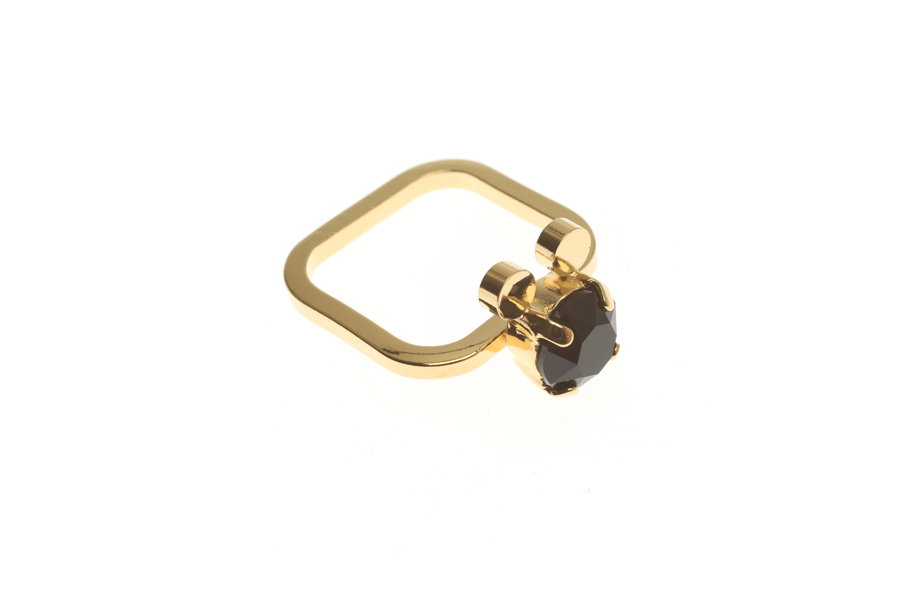 Fine ring with mouse M