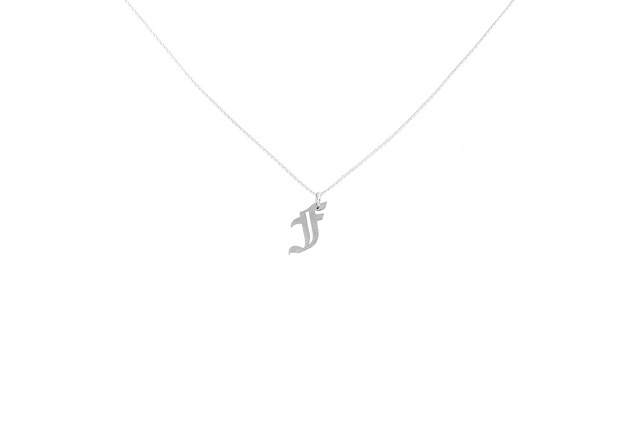 Alphabet NECKLACE Letter F silver