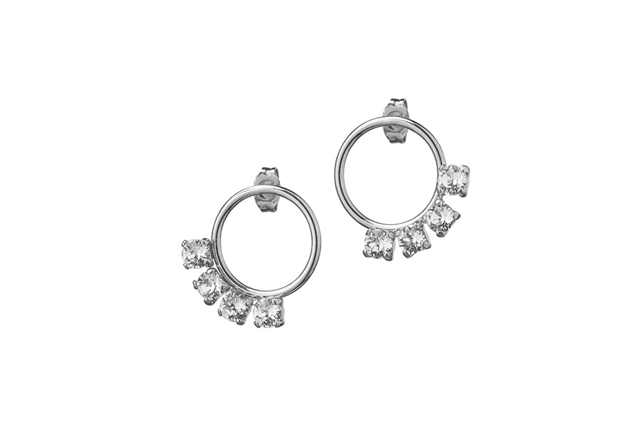 EARRINGS SMALL CIRCUS silver