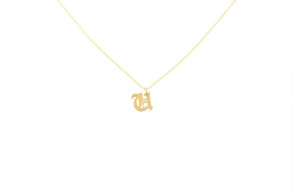 Alphabet NECKLACE Letter U