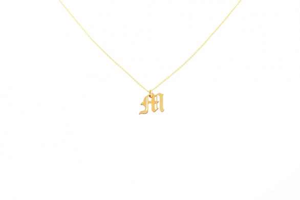 Alphabet NECKLACE Letter M