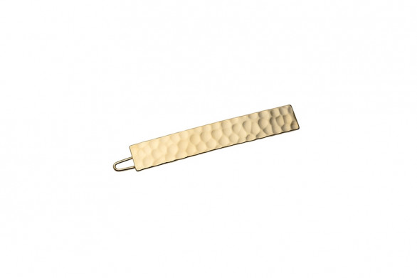HAIRCLIP HAMMERED RECTANGLE