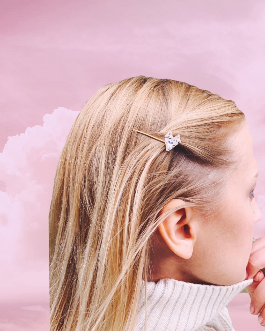 HAIRPIN CRYSTAL FEATHER
