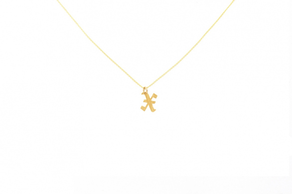 Alphabet NECKLACE Letter X