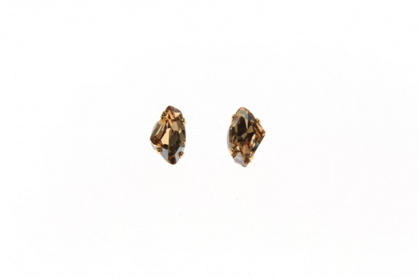 Earring Pins Leo Crystal Rock Small
