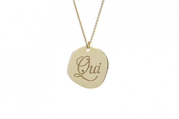 "NECKLACE ""OUI"" 14CT GOLD"