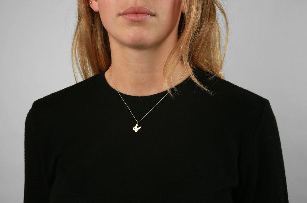 Necklace with Bunnymask