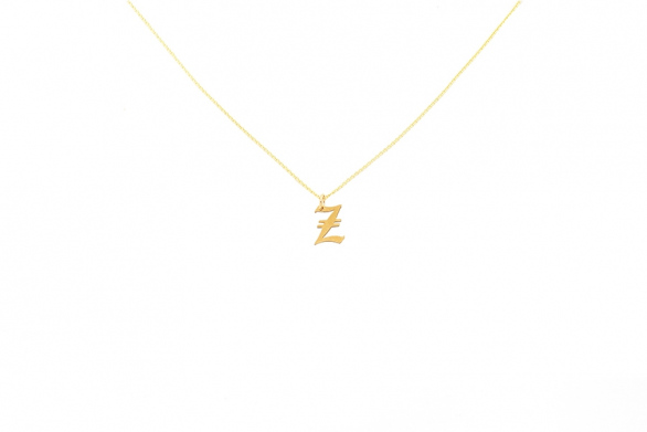 Alphabet NECKLACE Letter Z