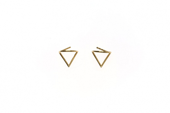 Small earrings with Triangle of Wisdom