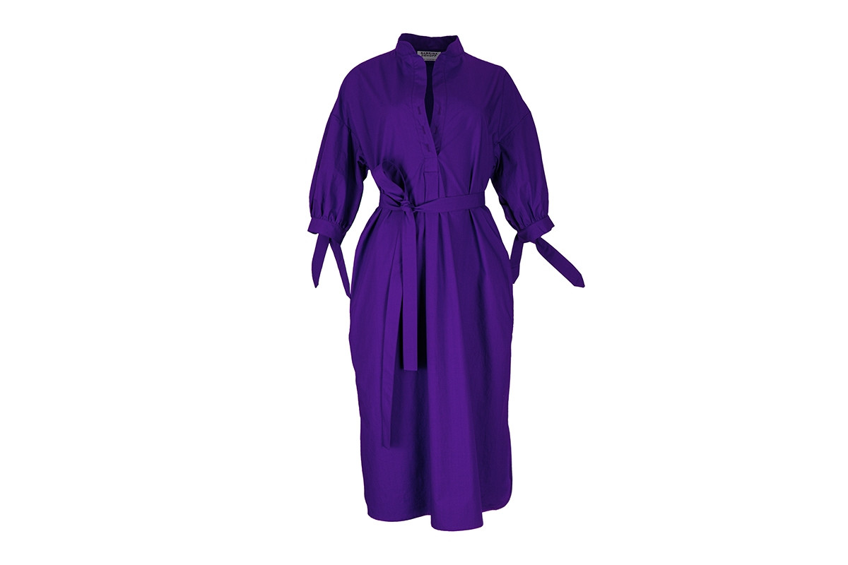 DRESS CRESPI, japanese plum