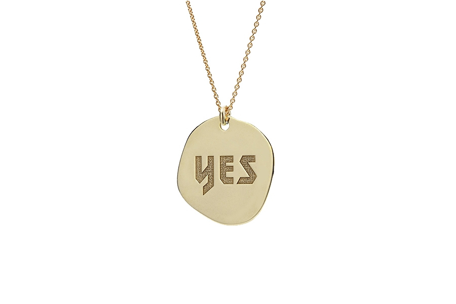 """NECKLACE """"YES"""" 14CT GOLD"""