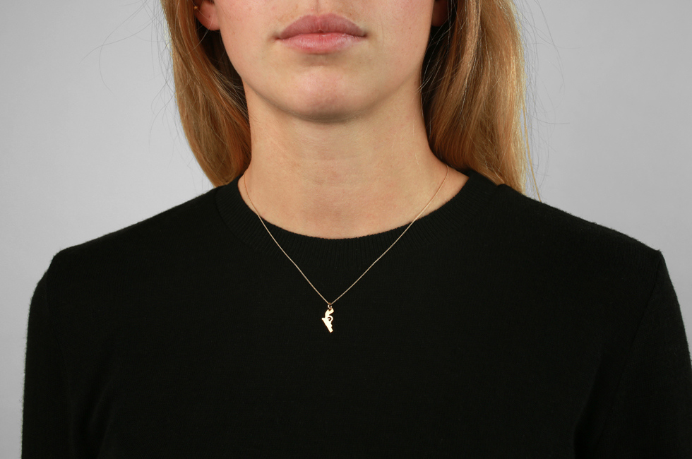 Necklace with Gun