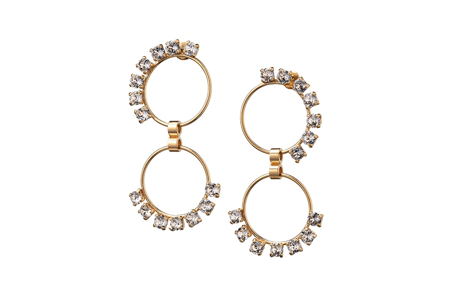 EARRINGS DOUBLE CIRCUS