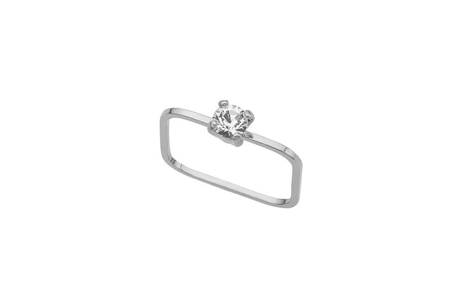 Ring TINY round-silver