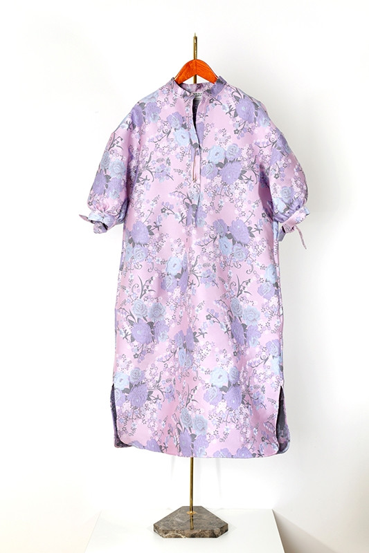 DRESS CRESPI brocade, light purple