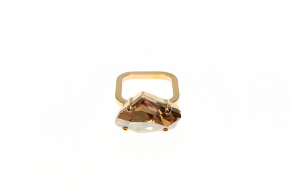 Ring Superfine Leo Crystal Rock large