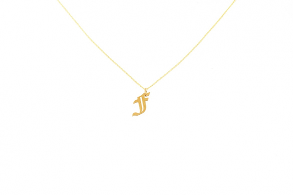 Alphabet NECKLACE Letter F