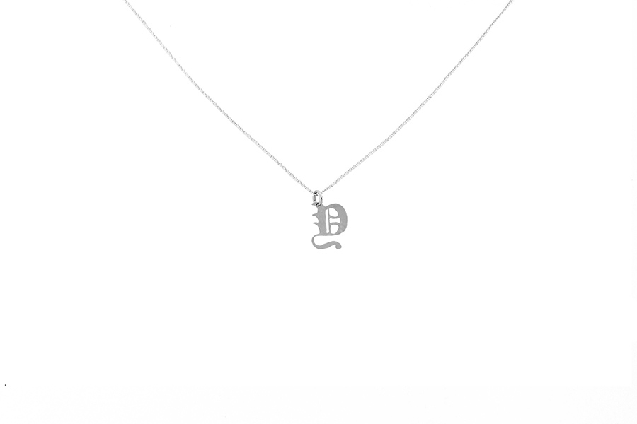 Alphabet NECKLACE Letter Y silver
