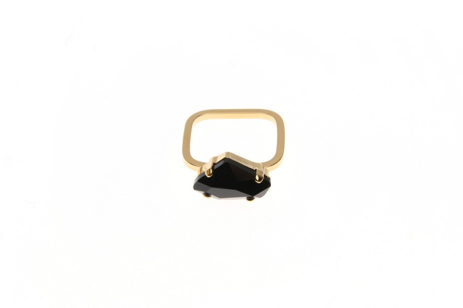 Ring superfine Leo Crystal Rock small